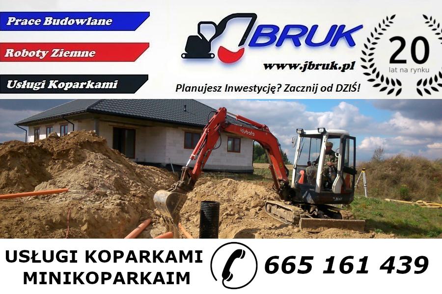 JBruk.pl - Usługi Wynajem - Koparka / Minikoparka