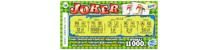zdrapka joker Lotto