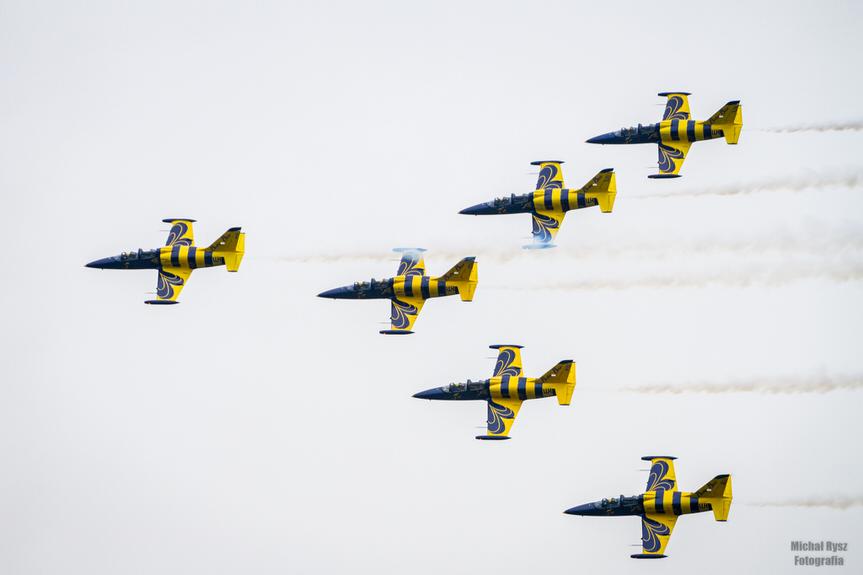 Balony nad Krosnem 2019 - Pokaz Baltic Bees Jet Team