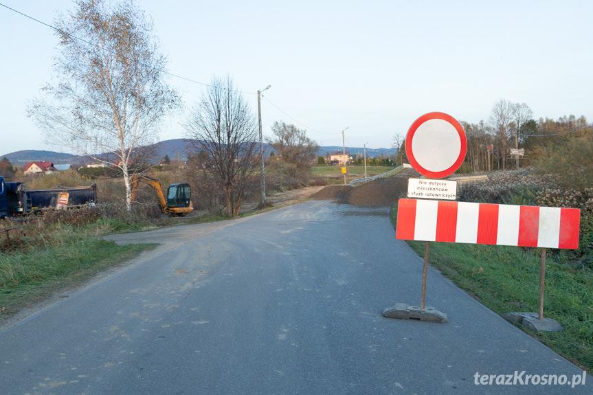 Budowa mostu w Odrzykoniu