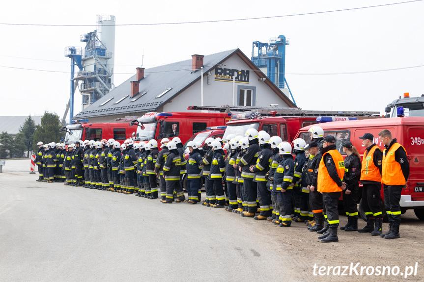 Ćwiczenia zgrywające jednostek OSP z gminy Miejsce Piastowe w Pustynach