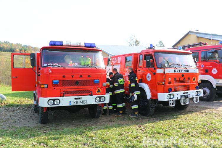 Ćwiczenia zgrywające OSP z gminy Wojaszówka