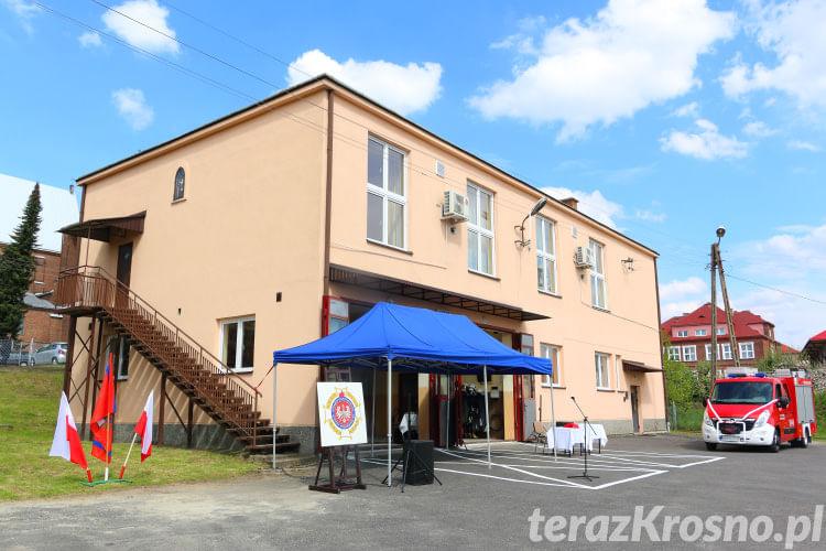 Gminne Obchody Dnia Strażaka w Komborni, przekazanie samochodu