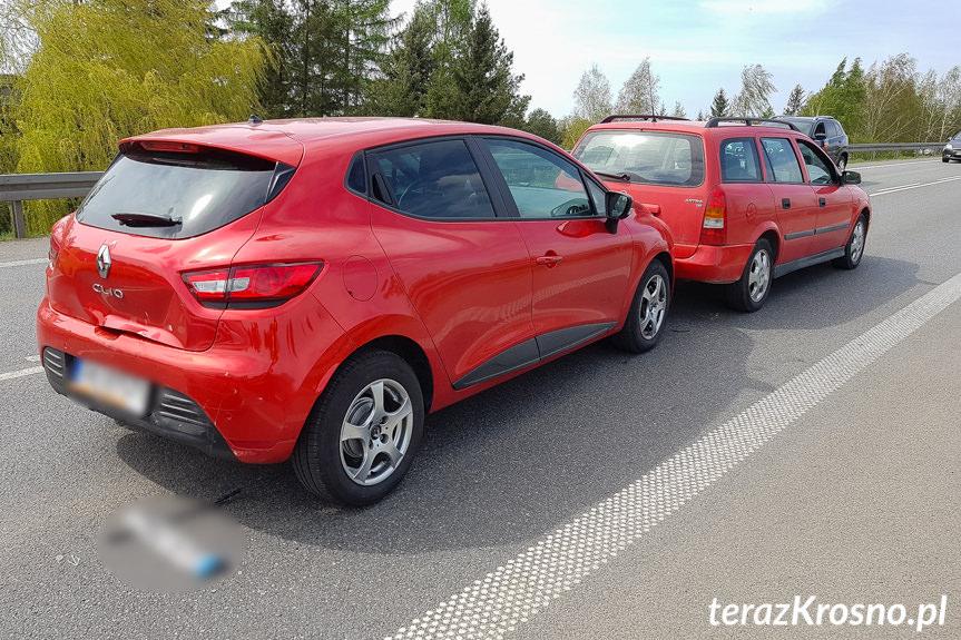 Kolizja 5 samochodów w Krośnie