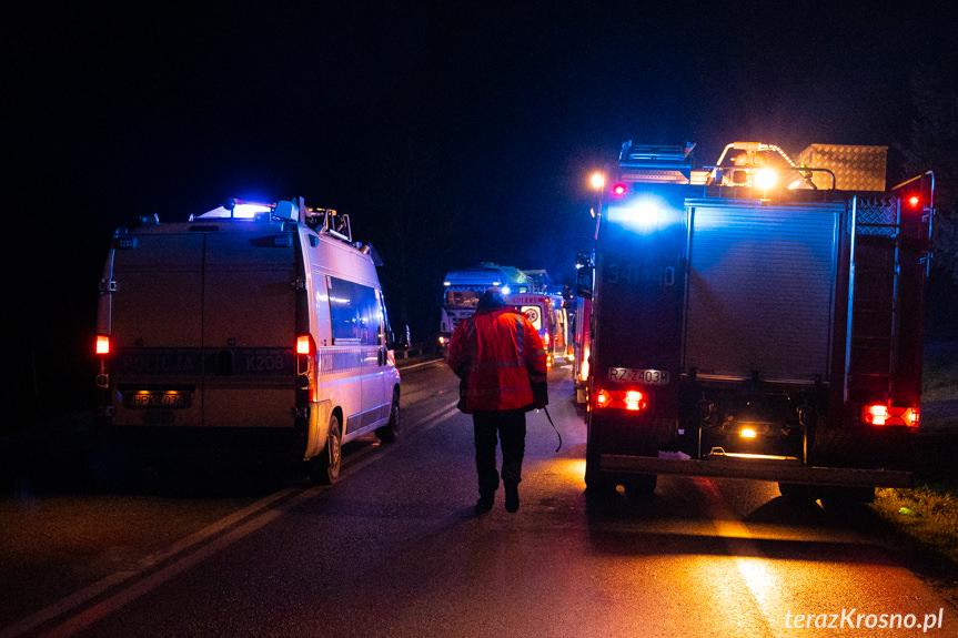 Kolizja ciężarówek w Tylawie