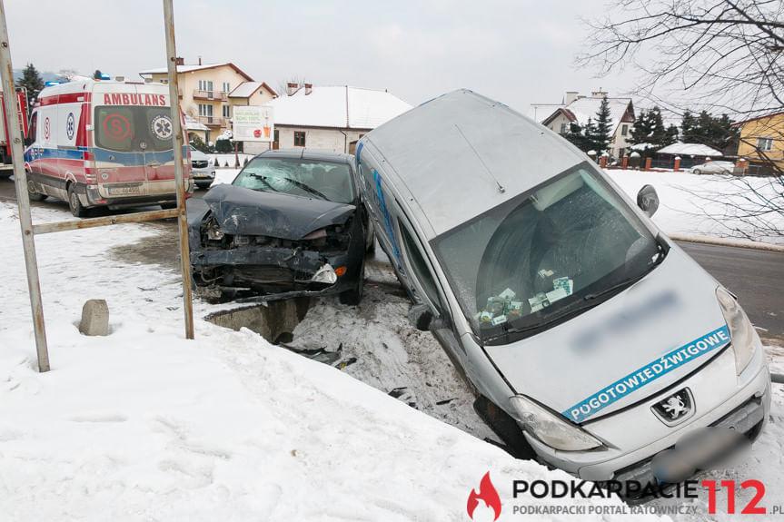 Kolizja na ul. Krośnieńskiej w Korczynie