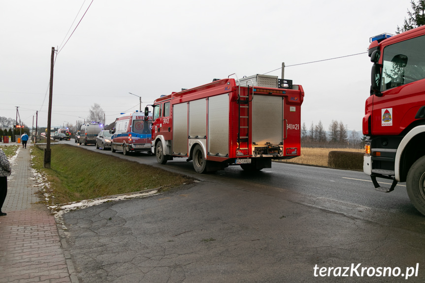 Kolizja na ul. Rzeszowskiej w Krośnie