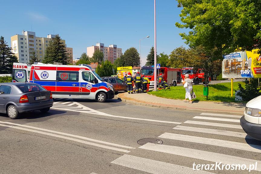 Kolizja samochodów na Lwowskiej