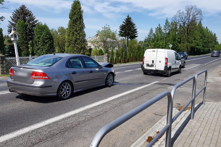 Kolizja samochodów w Iwoniczu