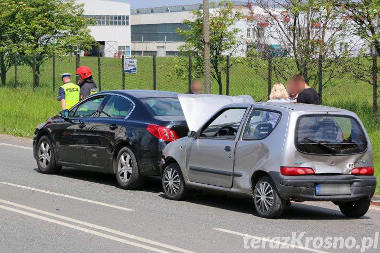 Kolizja trzech samochodów