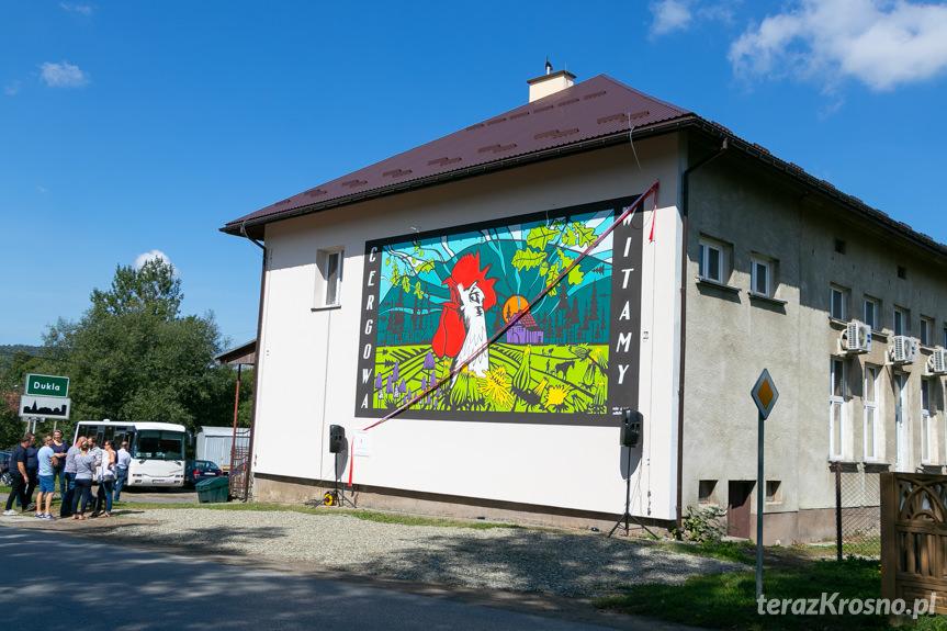 Otwarcie murala w Cergowej