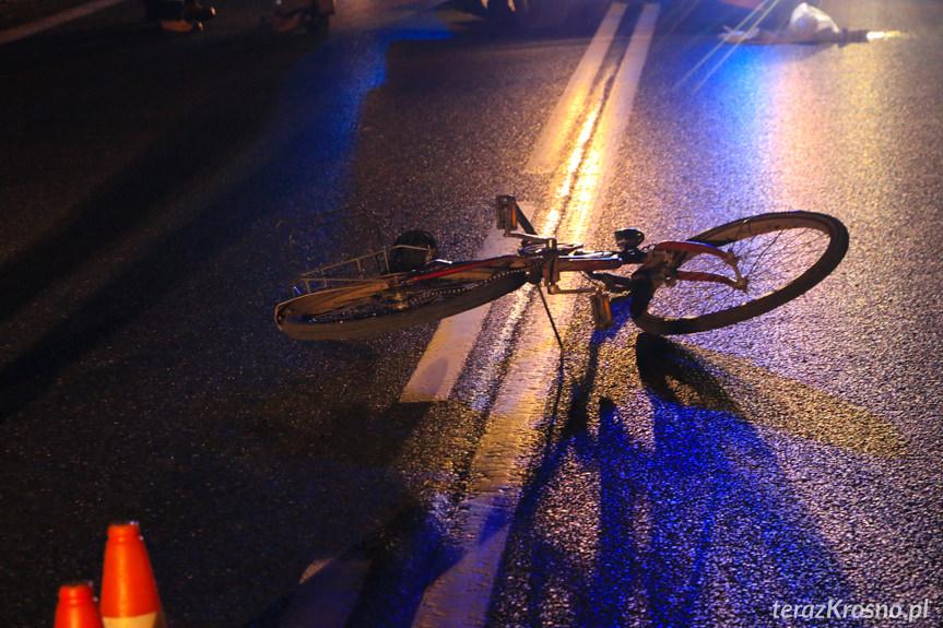Potrącenie rowerzysty w Dukli