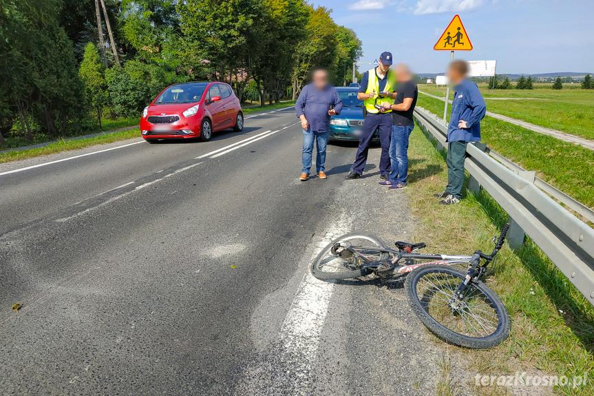 Potrącenie rowerzysty w Moderówce