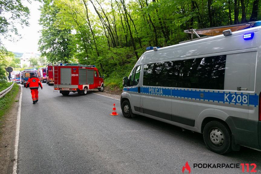 Poważny wypadek w Czarnorzekach