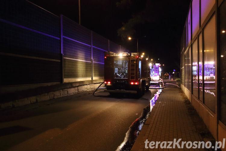 Pożar domu przy ul. Podkarpackiej w Krośnie