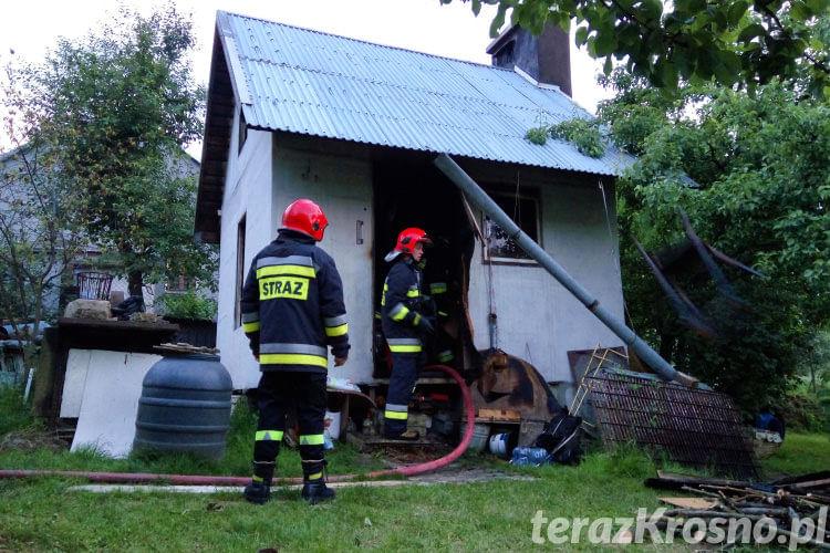 Pożar altanki na ul. Granicznej w Krośnie