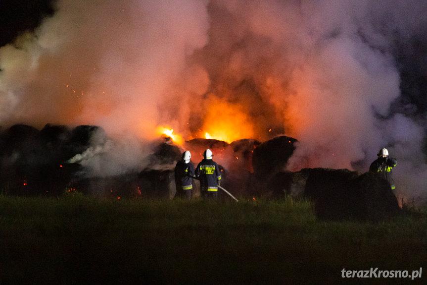 Pożar bel siana w Bratkówce