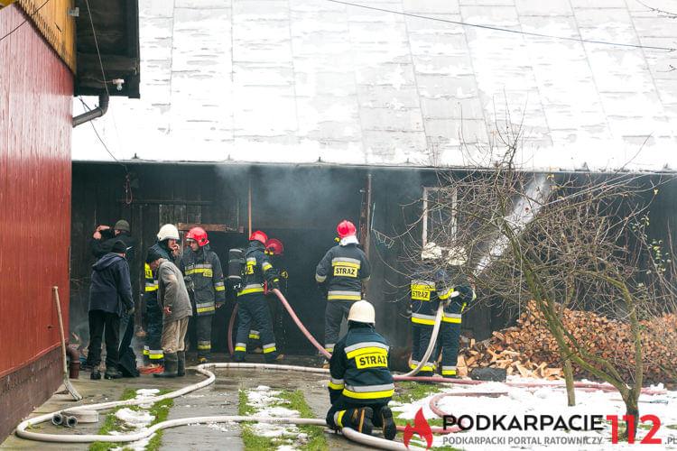 Pożar budynku gospodarczego w Chorkówce