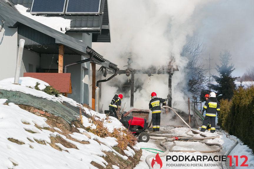 Pożar budynku gospodarczego w Dobieszynie
