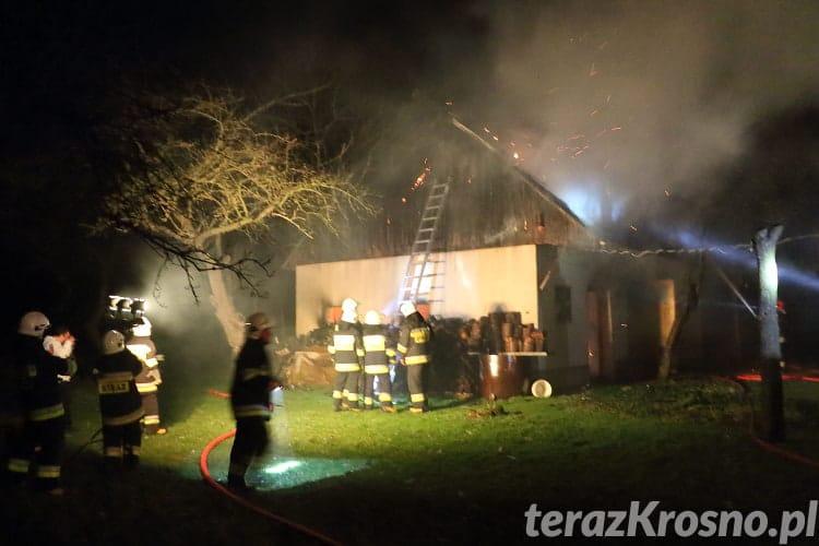Pożar budynku gospodarczego we Wrocance