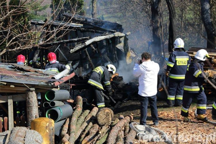Pożar budynku gospodarczego w Głojscach