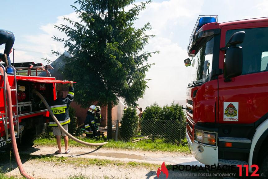 Pożar budynku gospodarczego w Kopytowej