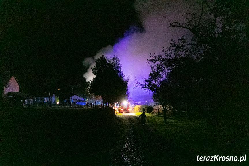 Pożar budynku gospodarczego w Wojaszówce