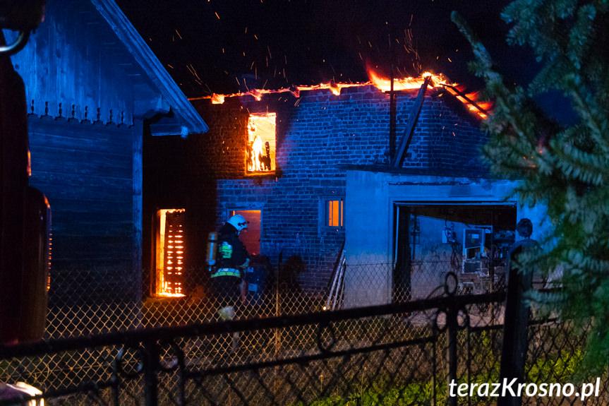 Pożar budynku gospodarczego w Żarnowcu