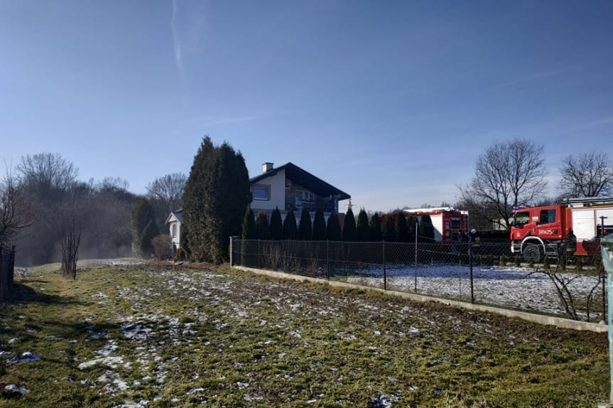 Pożar budynku mieszkalnego w Krościenku Wyżnym