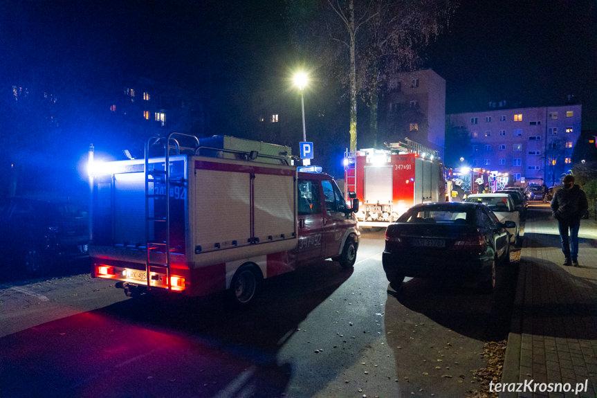 Pożar budynku na Oficerskiej