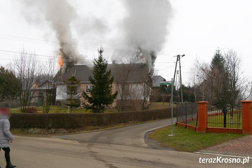 Pożar budynku w Bóbrce