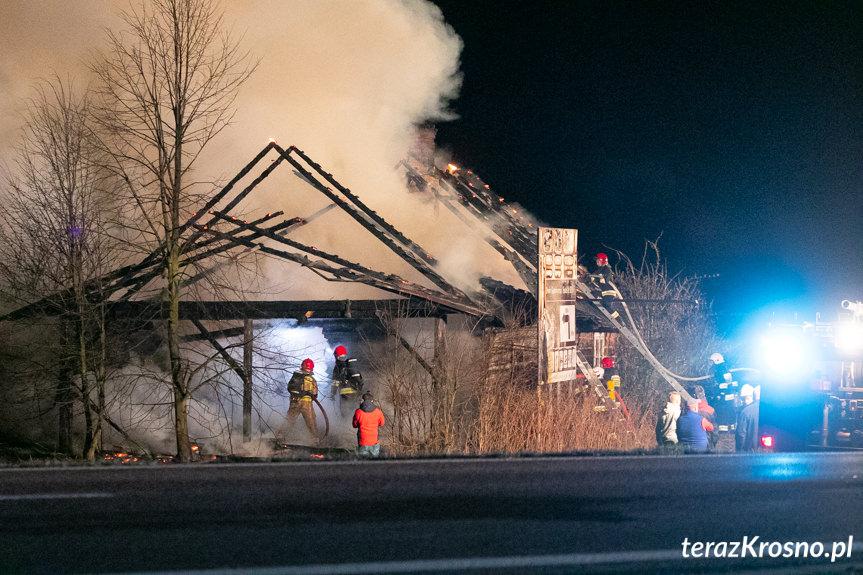 Pożar budynku w Iskrzyni