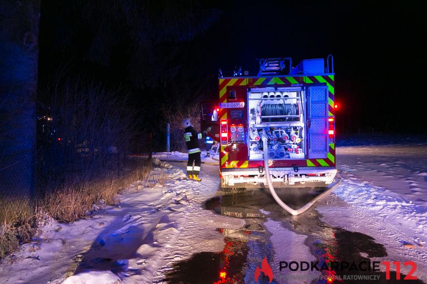 Pożar budynku w Odrzykoniu