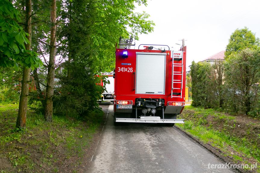 Pożar budynku w Przybówce