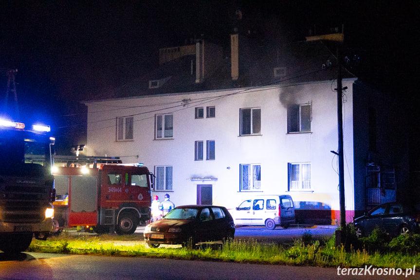 Pożar budynku w Równem
