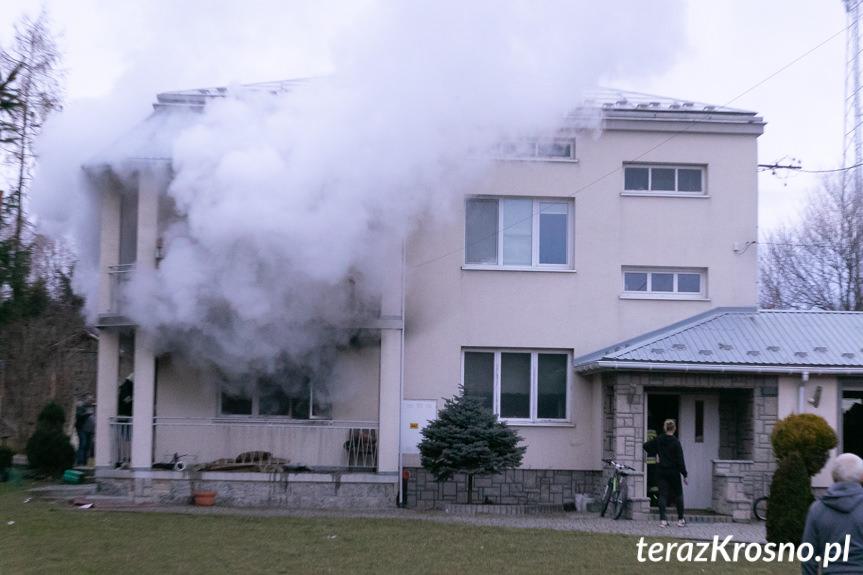 Pożar budynku w Szczepańcowej