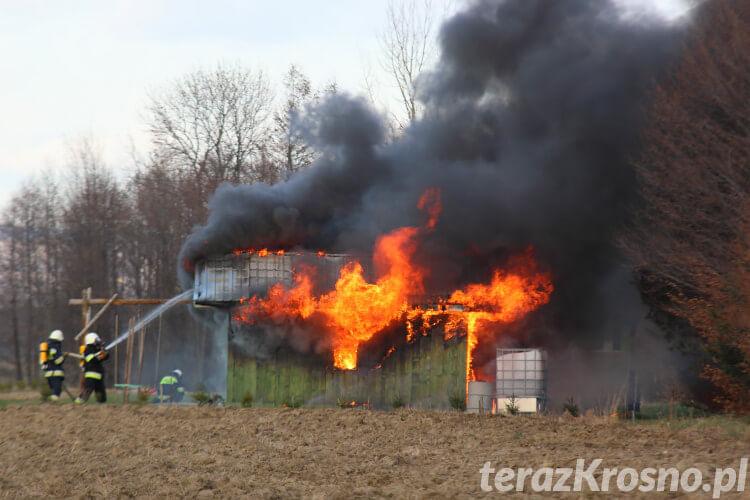 Pożar domku letniskowego w Szczepańcowej