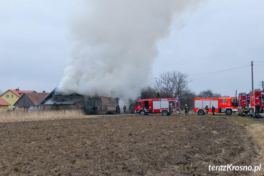 Pożar domu przy ul. Klonowej w Krośnie