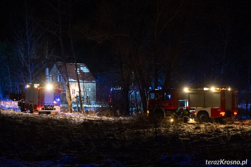 Pożar domu w Cergowej