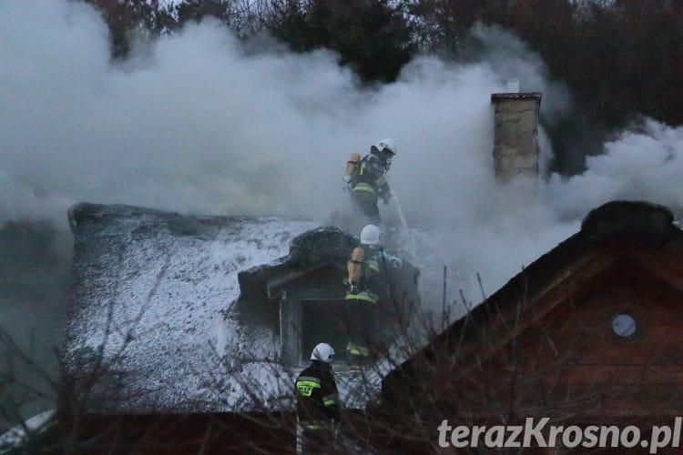 Pożar domu w Czarnorzekach