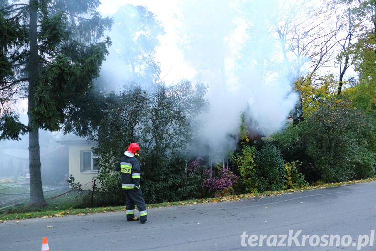 Pożar domu w Iwoniczu