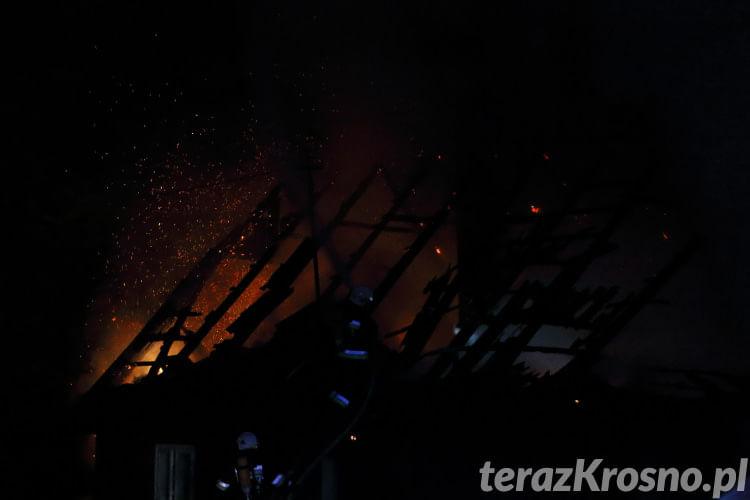 Pożar domu w Jasionce