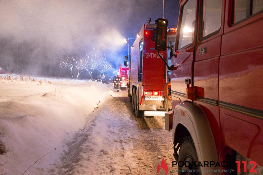 Pożar domu w Korczynie