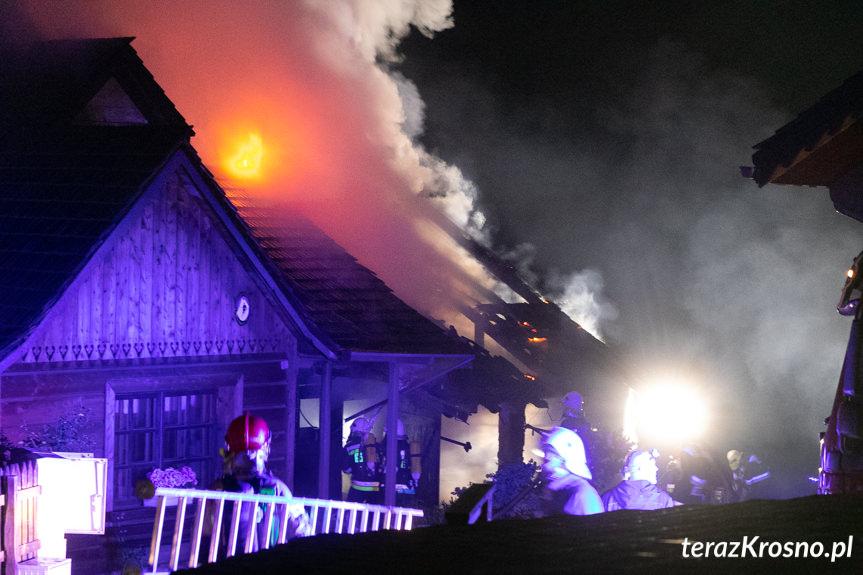 Pożar domu w Odrzykoniu