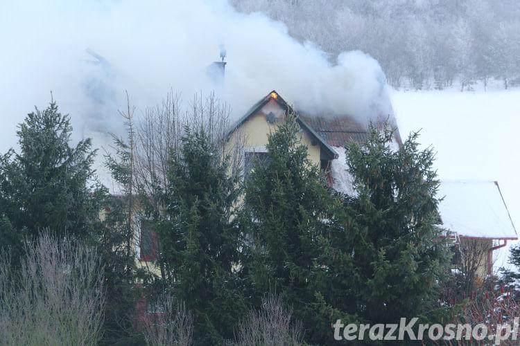 Pożar domu w Olchowcu