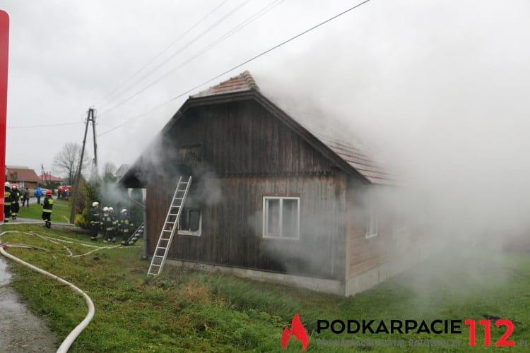 Pożar domu w Równem