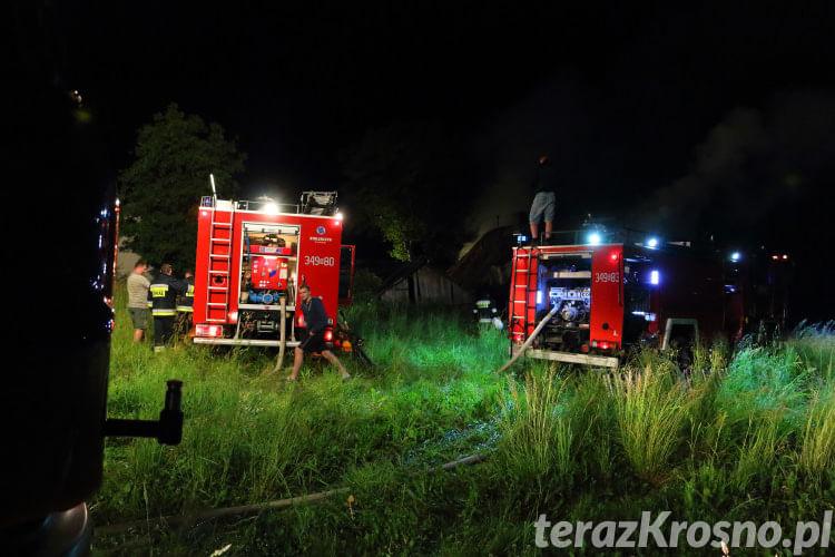 Pożar domu w Rymanowie