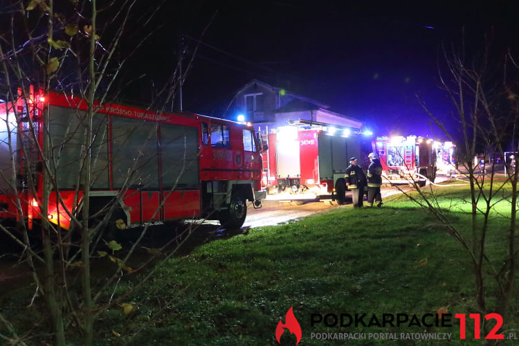 Pożar domu w Suchodole