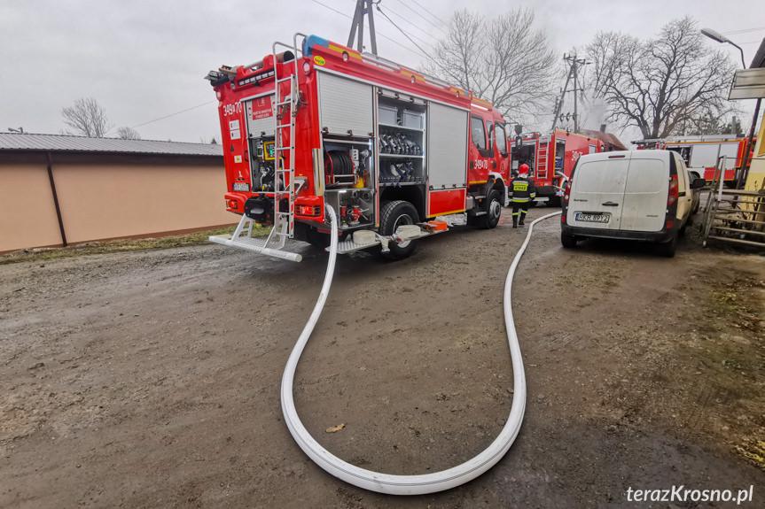Pożar domu w Targowiskach