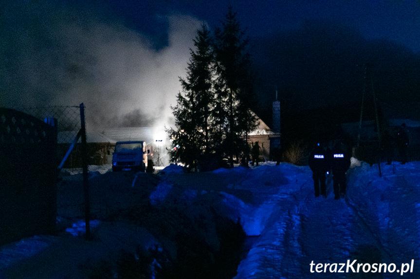 Pożar domu w Teodorówce
